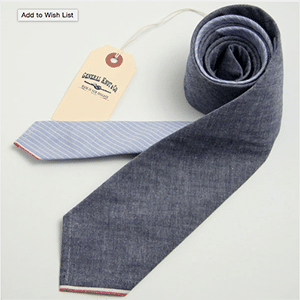 Fashioned with repurposed vintage fabric, this tie is available in very limited quantities in NYC and Vermont. You'll receive your tie accompanied by an exclusively numbered card designating its exact place in the collection.