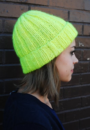 A Wool Story upcycled beanie