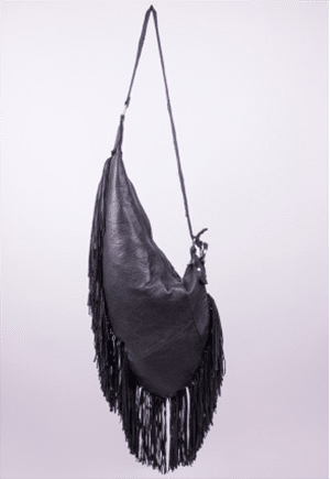 Cherokee Fringed Bag // recycled leather