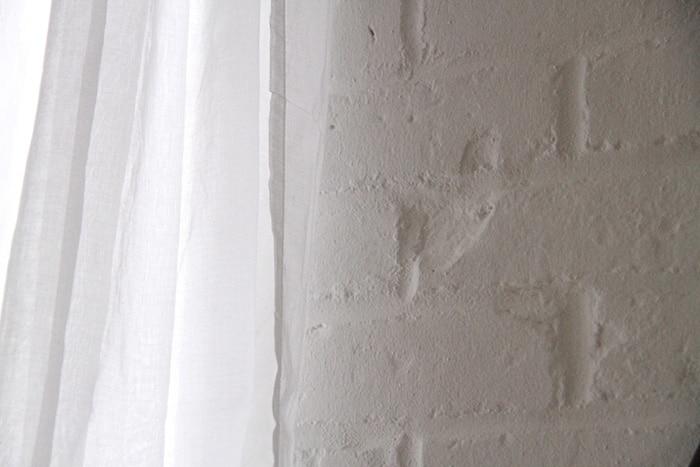 Brick Veneer painted white