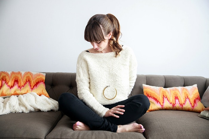 Necklace by Indego Africa, sweater by Josie Faye