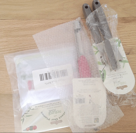 I ordered eco-friendly items from a home store, and they came wrapped in plastic. #Fail