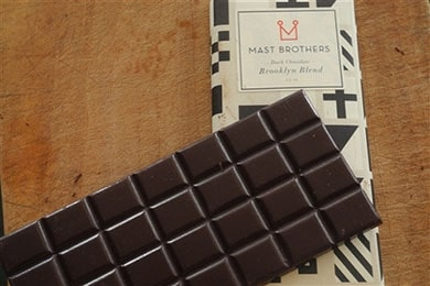 For the Brooklyn aficianado: This Mast Brothers in-house blend is a beautifully balanced chocolate, with hints of red wine, tobacco and plum