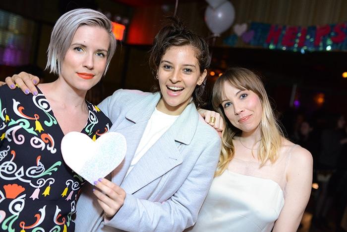 Helpsy founder Rachel Kibbe, Amirah Kassem, Sara Larson