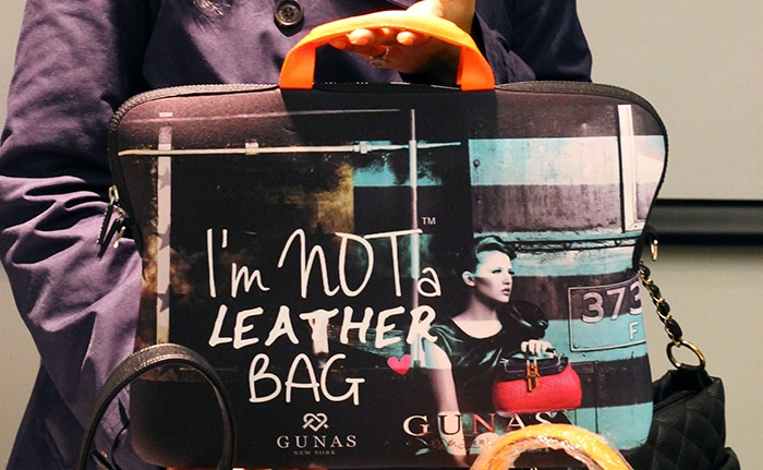 I'm not a leather bag by