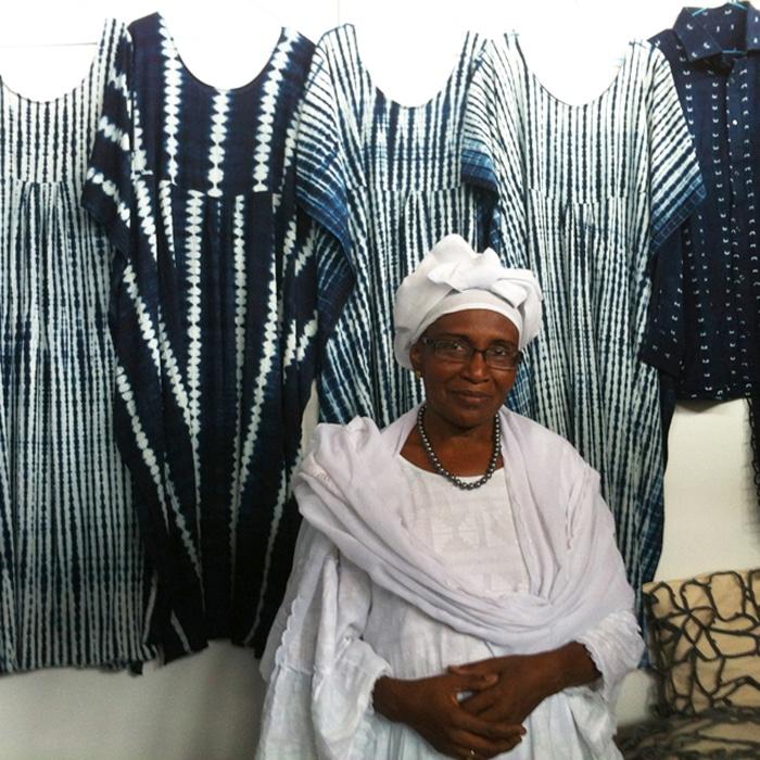 A master indigo dyer
