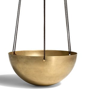 Mother's Day Gift: brass hanging planter