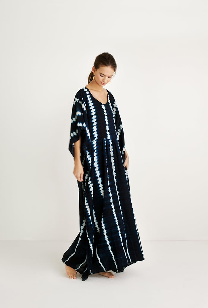Indigo caftan by Proud Mary // made in Mali // sold by Accompany