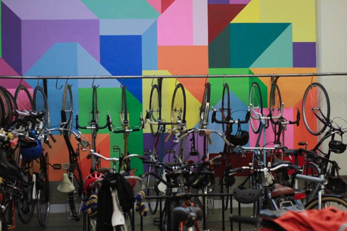 The bike room at Etsy