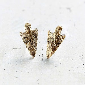 Non-exploitative festival fashion // Arrowhead studs made in the USA from recycled metals