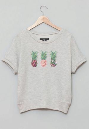 Pineapple sweatshirt // eco-friendly beach essentials