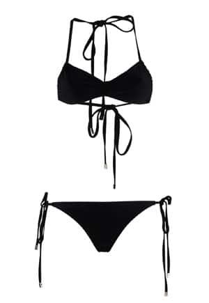 Araks black tie bikini // eco-friendly beach essentials