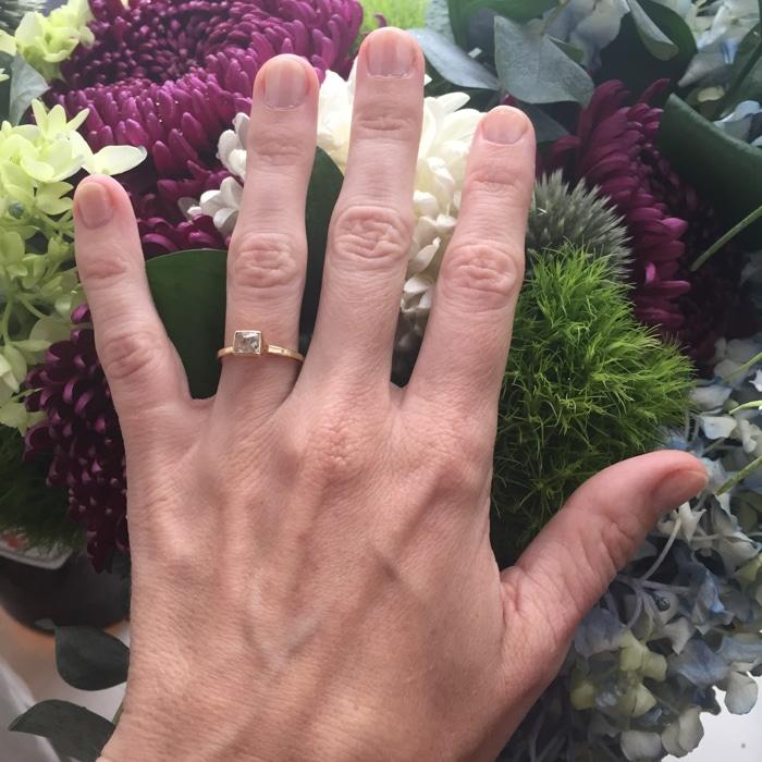Melissa Joy Manning diamond engagement ring
