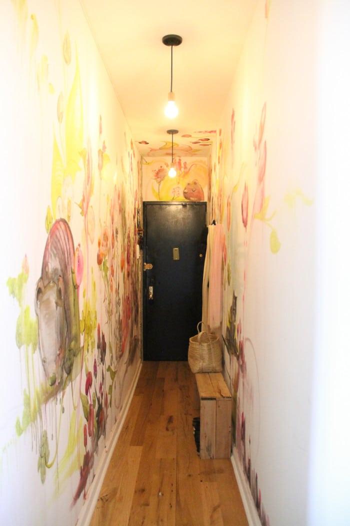 Streetart mural in entryway by Cern