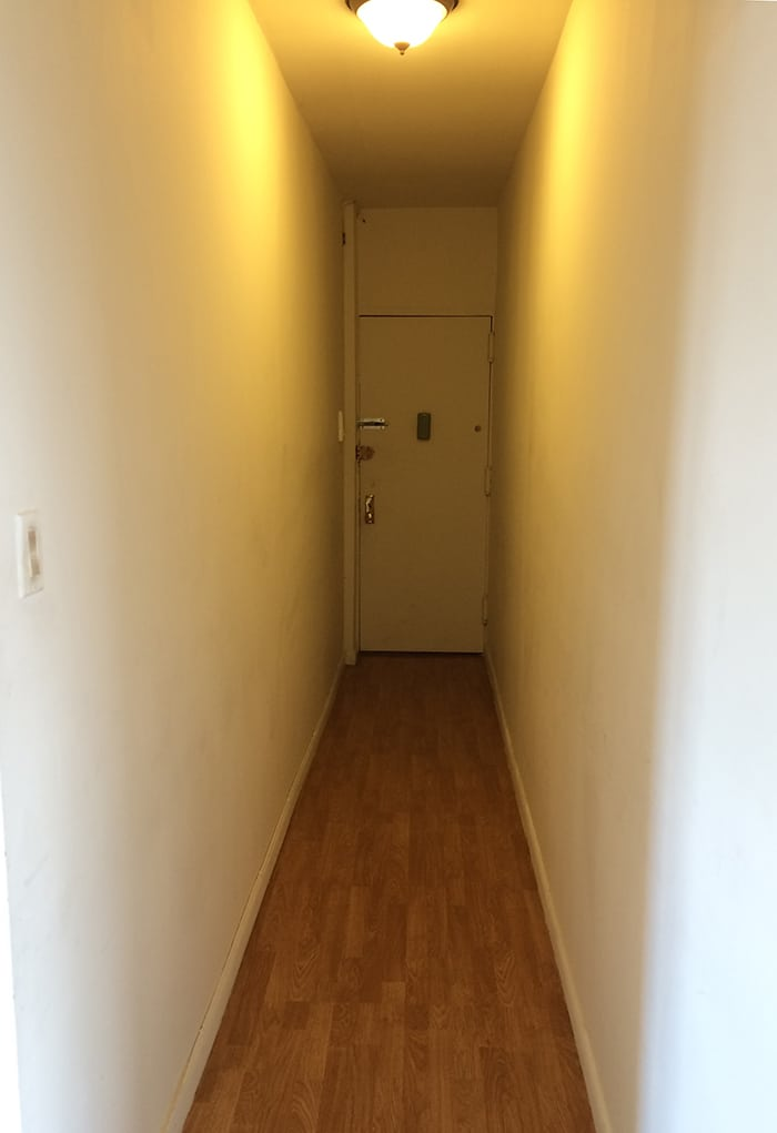 The hallway before