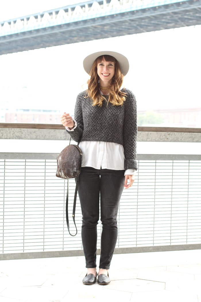 #Sustainable style: Grey alpaca sweater by Callina
