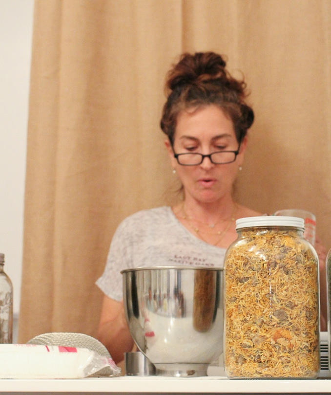 Founder Amy Galper does a demonstration