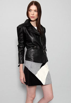 The Sway upcycled leather jacket