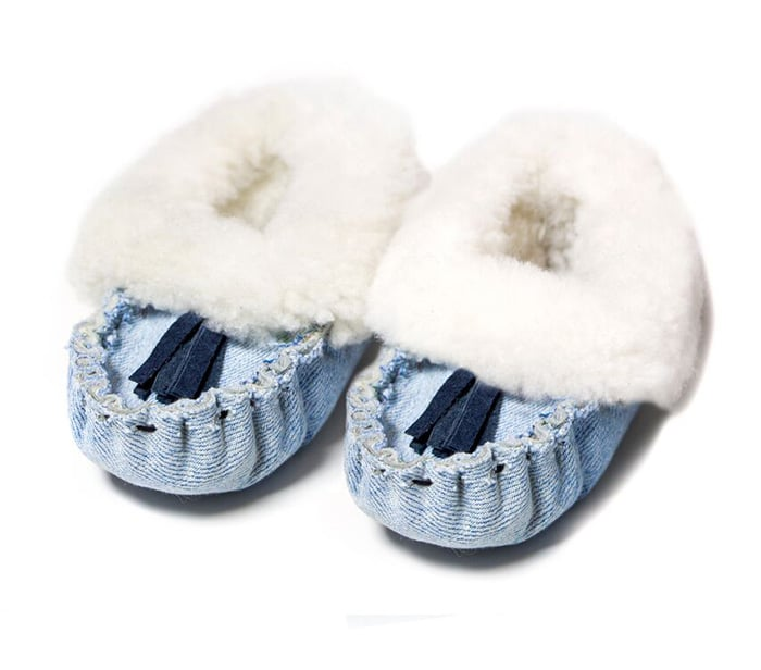 Recycled Denim Baby Slipper at Accompany
