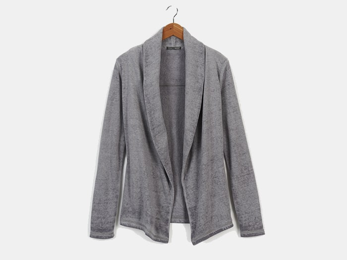 Threads 4 Thought Belinda Open Cardigan. 60% GOTS certified organic cotton and 40% recycled polyester. Ethically and sustainably made in China.