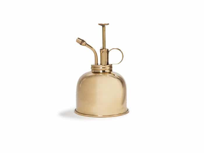 Solid brass mister for watering orchids and other humidity-loving houseplants, by Haws. Made in England since 1885.