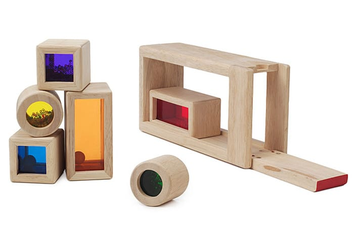 Rainbow Sound Blocks at Uncommon Goods