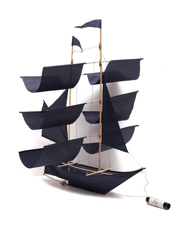 Balinese Indigo Ship Sailing Kite
