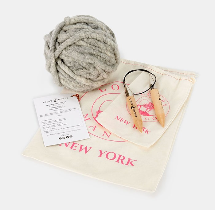 Eco-Friendly holiday gifts // hat knitting kit