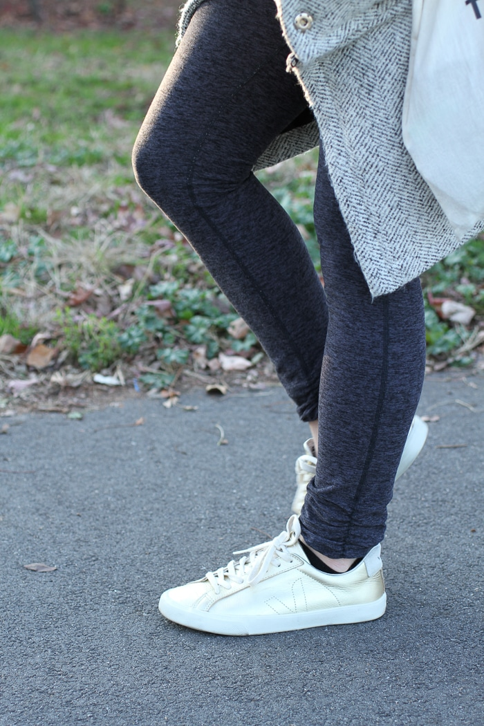 Gold Veja sneakers