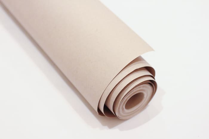 Eco-friendly gift wrap tip: buy postal paper a.k.a. Kraft paper for wrapping presents
