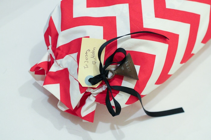 Eco-friendly gift wrap tip: buy a reusable gift bag!