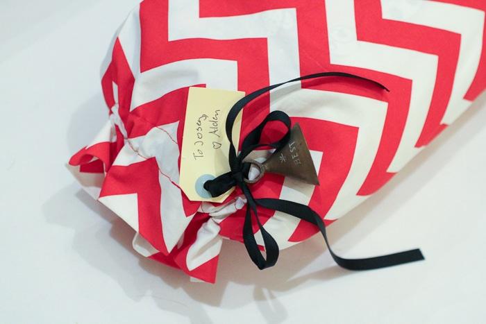 Eco-friendly gift wrap tip: buy a reusable gift bag!