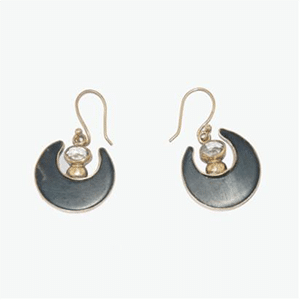 Loyangalani crescent moon earrings // made in Africa