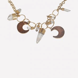 Loyangalani crystal and moon necklace // made in Africa