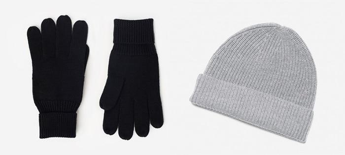 Chunky Merino Wool Glove and Beanie