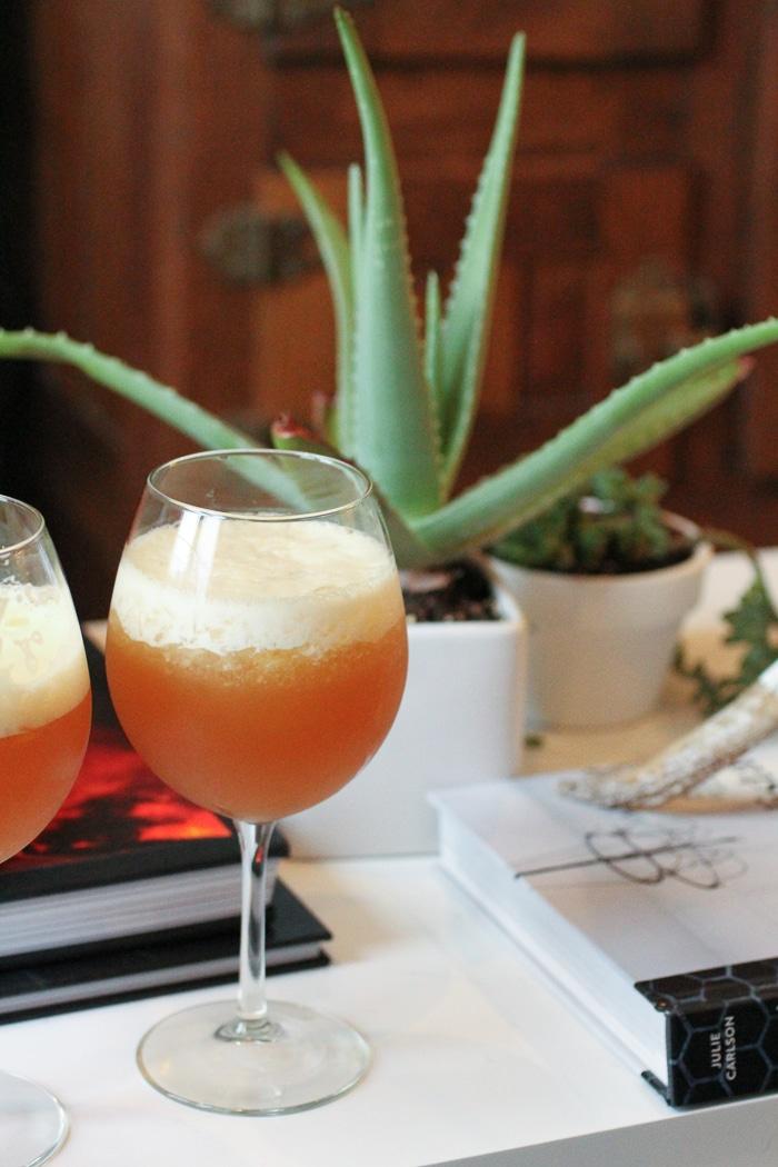 Bourbon Slush brunch drinks: English breakfast tea, bourbon, lemonade