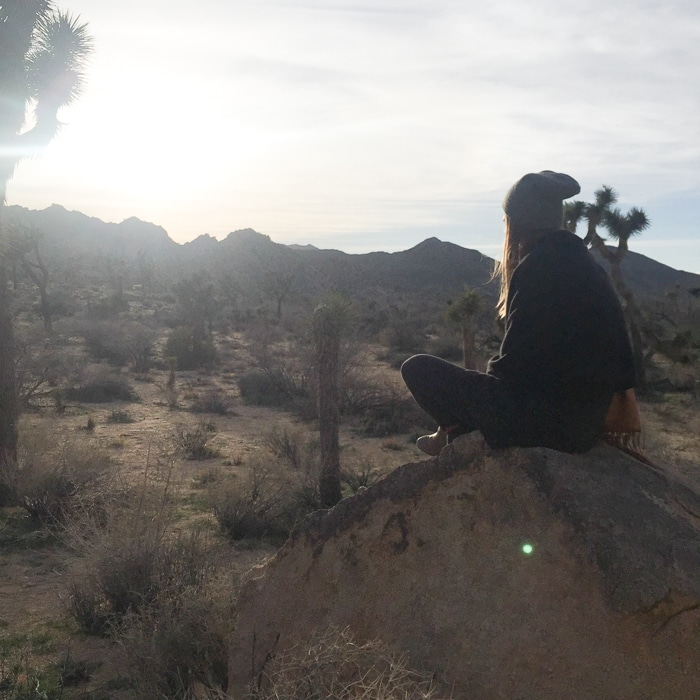 Watching the sun go down at Joshua Tree National Park