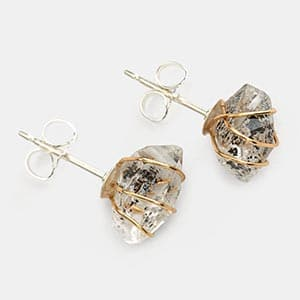 Called Herkimer diamonds, these are semi-precious stones ethically mined in Pennsylvania