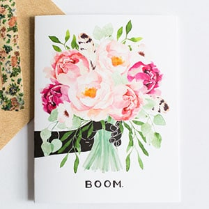Because her local suburban flower shop always messes up your order, this lovely card instead.