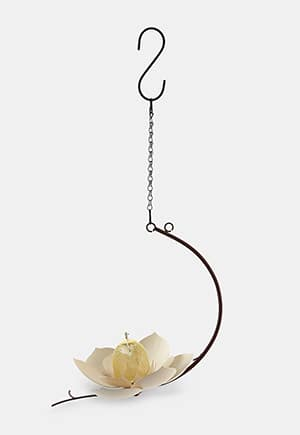 She's a steel magnolia; pay homage to her strength and beauty with this bird feeder.