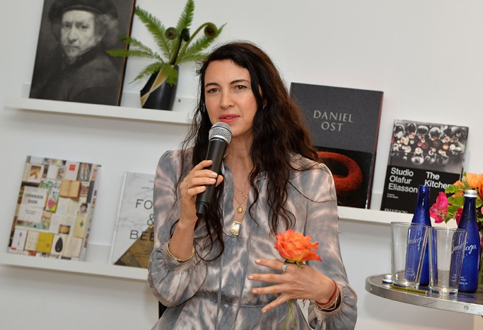 """NEW YORK, NY - MAY 04: Shiva Rose speaks at the Floral Salon celebration by Garden Collage and Phaidon on May 4, 2016 in New York City. (Photo by Slaven Vlasic/Getty Images for Garden Collage )"""