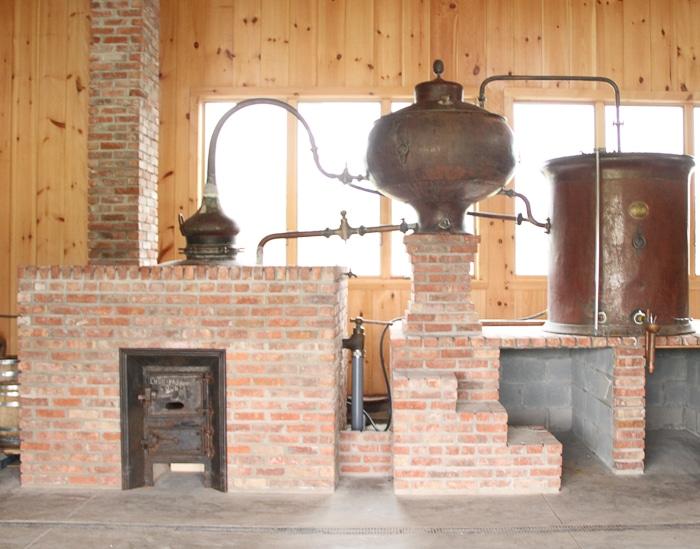 An antique French cognac distill