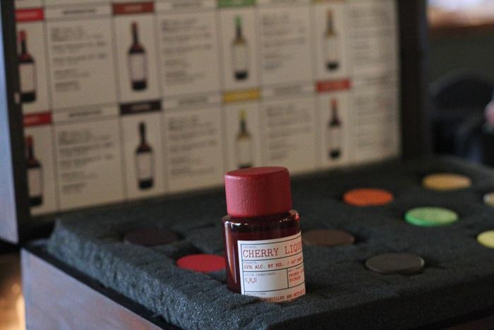 Vials of experimental liqueurs and cordials