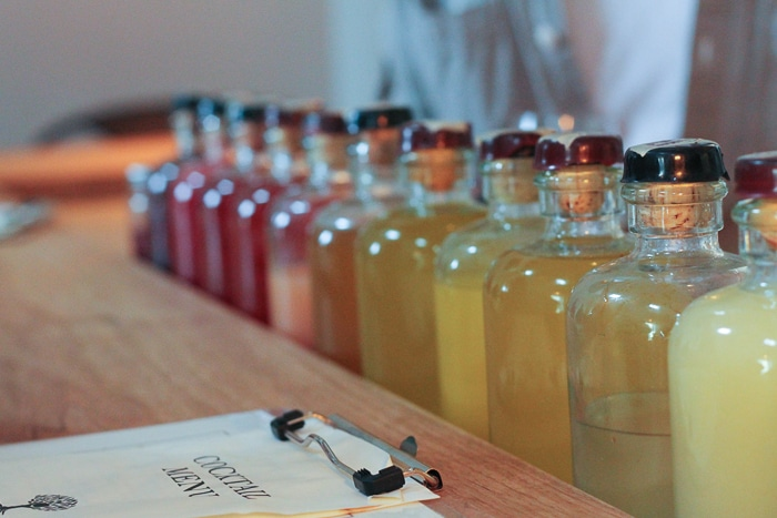 Premixed mixers lined up by color