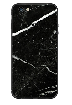 Crafted from genuine Nero Marquina marble and recyclable aluminum in Germany