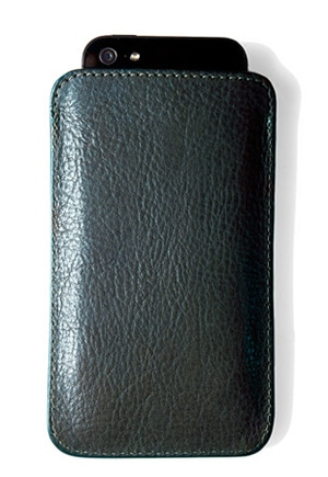 Vegetable-tanned leather case made in Fall River, MA