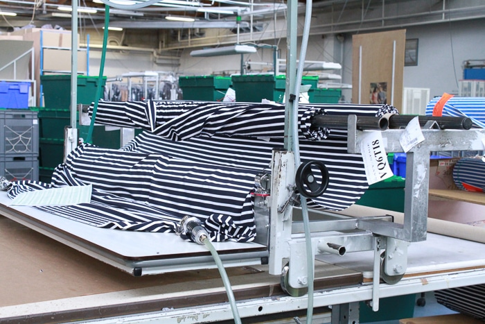 Saint James still manufactures its sweaters in its French factory