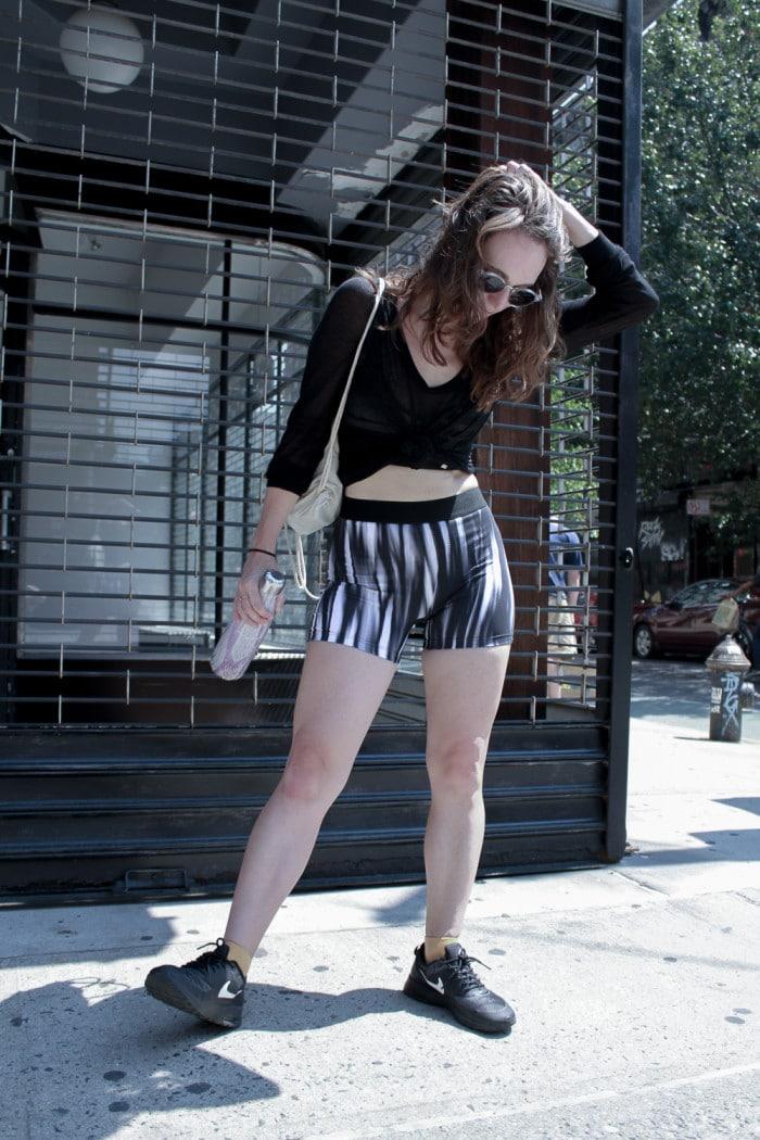 Minimalist eco-friendly black yoga athletic clothing