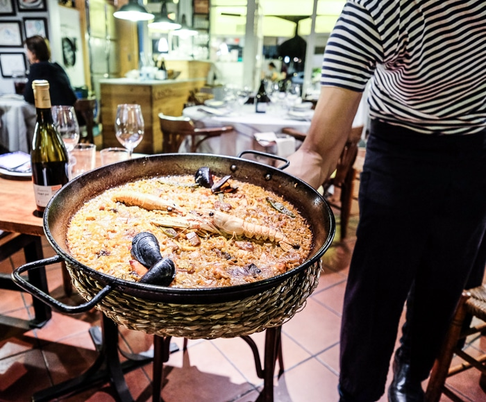 Review seafood restaurant Barcelona suquet d'almiral