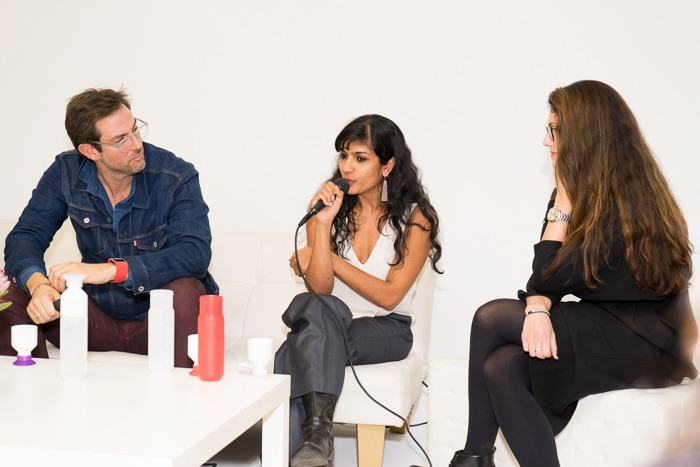Mari Kay Scott of GM, Lew Perkins of Cradle to Cradle, Ammr Vandal of nARCHITECTS, and Anna Gedda of H&M